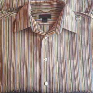 Express Multi Striped Premium Dress Shirt